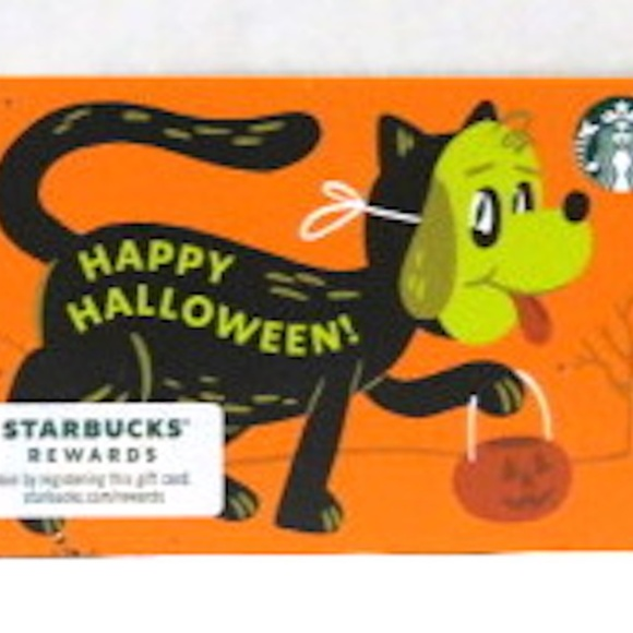 Starbucks 2021 Happy Halloween Card NO VALUE